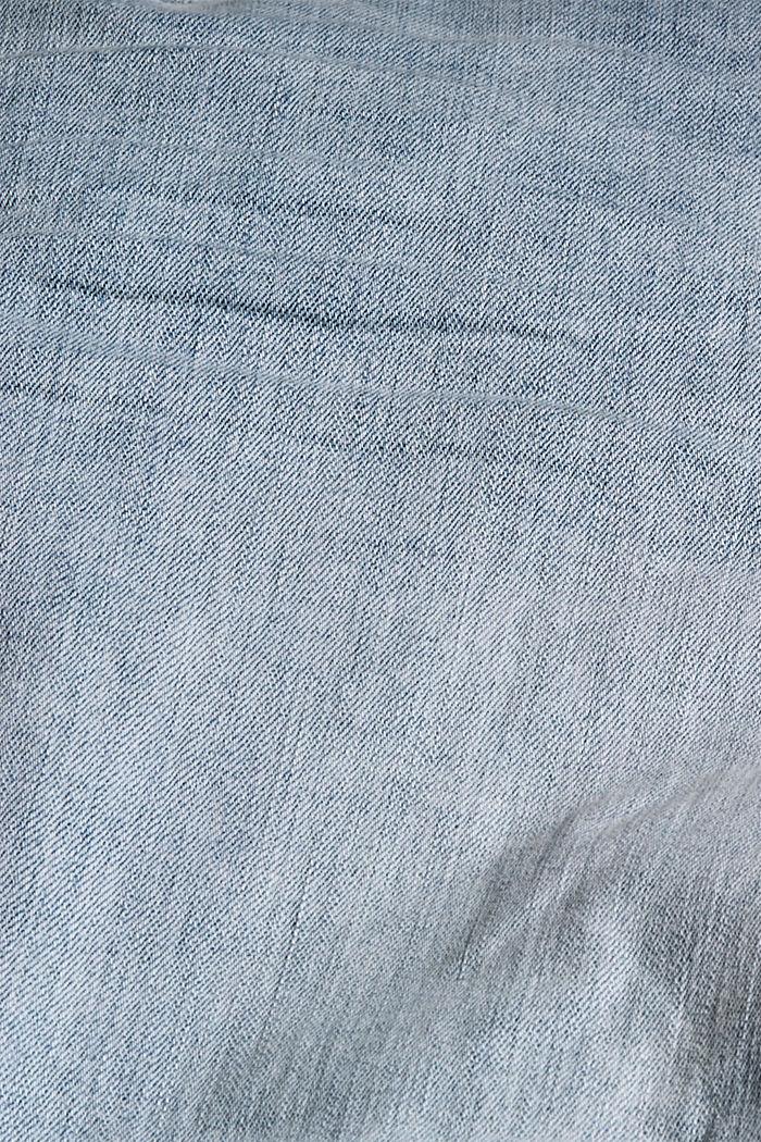 Denim shorts made of organic cotton/LYCRA®, BLUE BLEACHED, detail image number 4