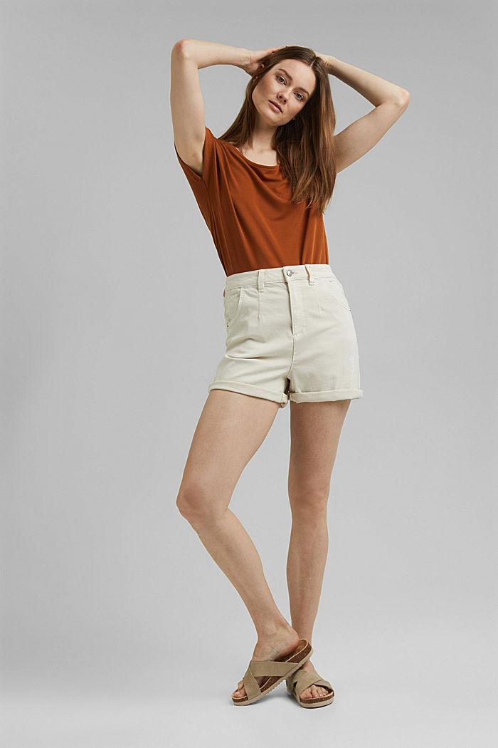 Superstretch-Shorts mit Bio-Baumwolle, ICE, detail image number 1