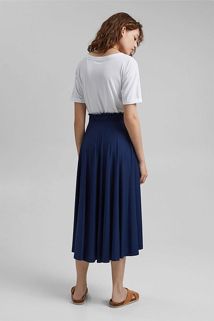 Midi skirt made jersey, LENZING™ ECOVERO™, DARK BLUE, detail image number 3