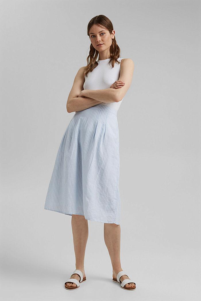 Linen blend: striped midi skirt, LIGHT BLUE, detail image number 1