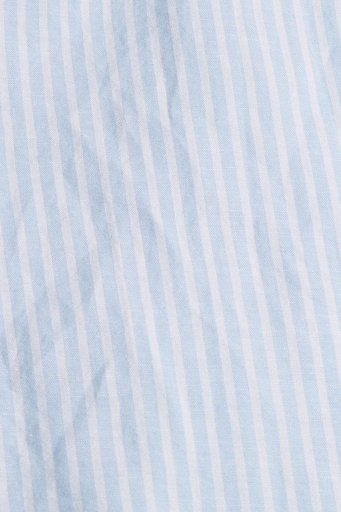 Linen blend: striped midi skirt, LIGHT BLUE, detail image number 4