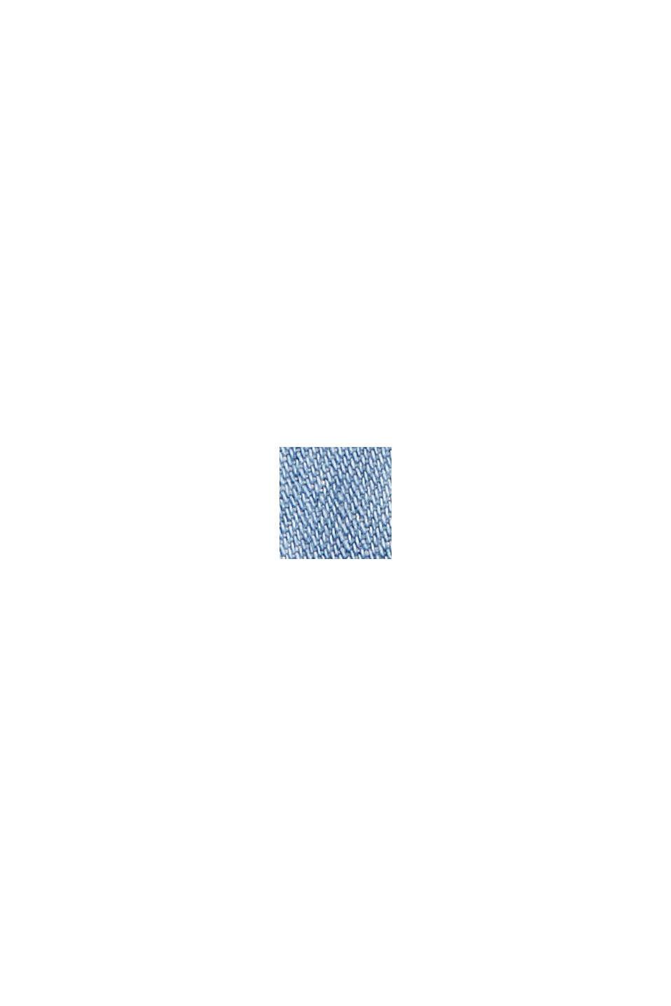 Mit Leinen: Jeansrock im Paperbag-Stil, BLUE MEDIUM WASHED, swatch