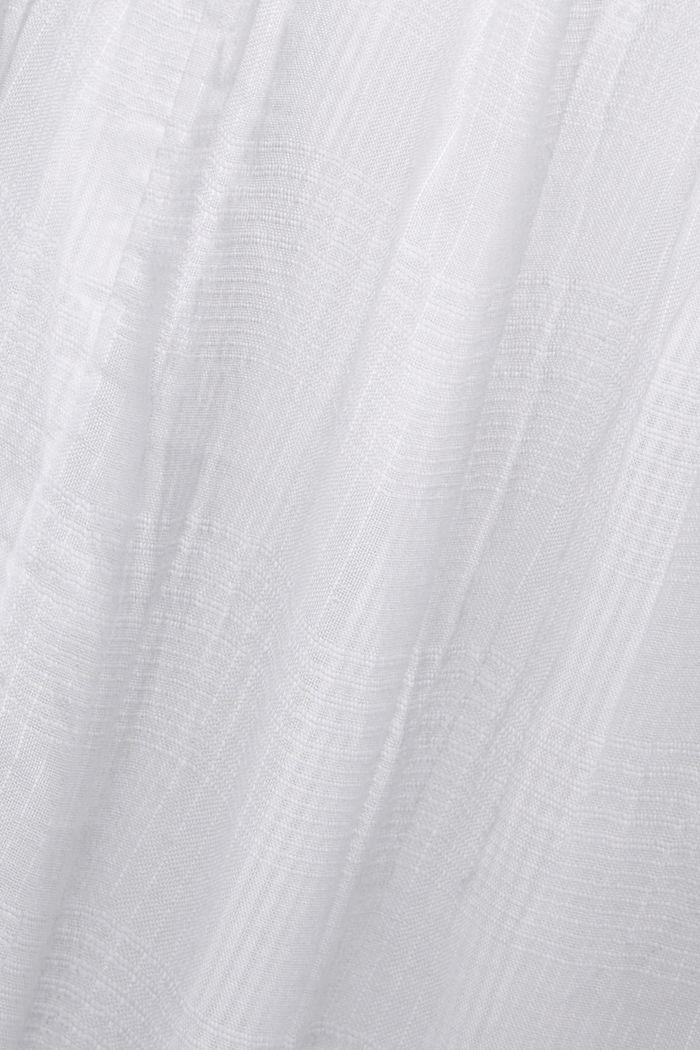 Midikleid mit Häkelspitze, 100% Bio-Baumwolle, WHITE, detail image number 4