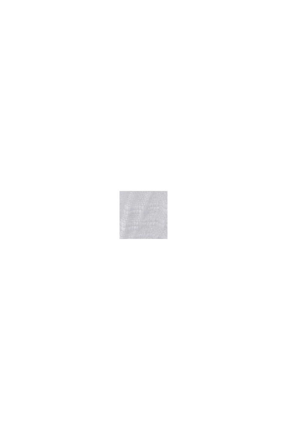 Midiklänning med virkad spets, 100% ekobomull, WHITE, swatch