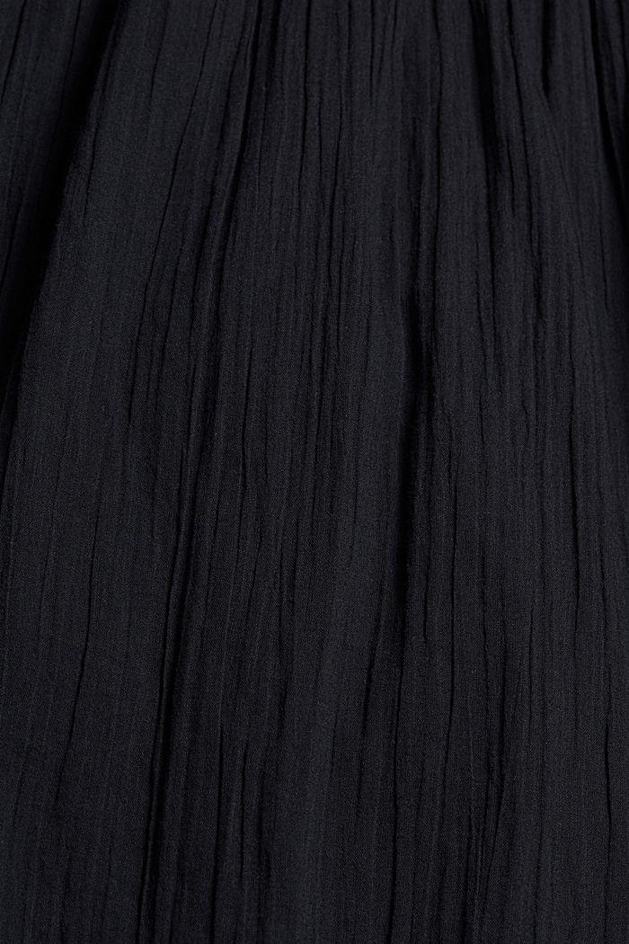 Voile-Kleid aus Bio-Baumwolle mit Spitze, BLACK, detail image number 4