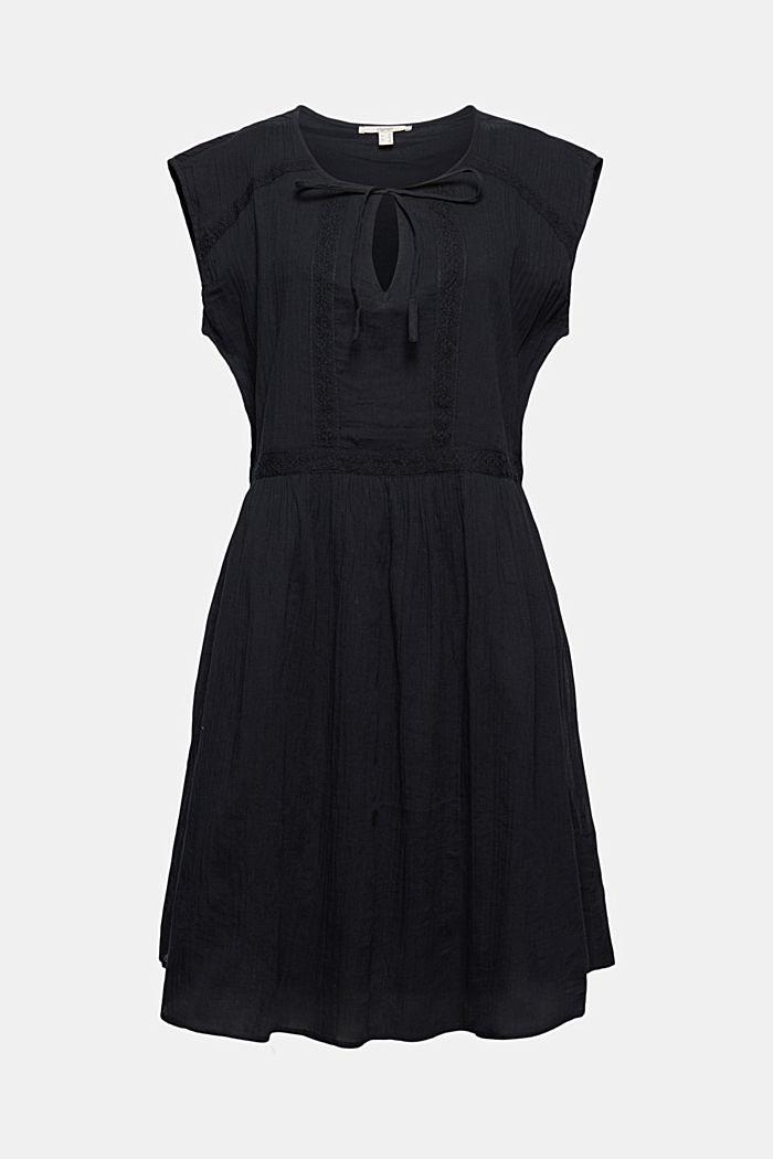 Voile-Kleid aus Bio-Baumwolle mit Spitze