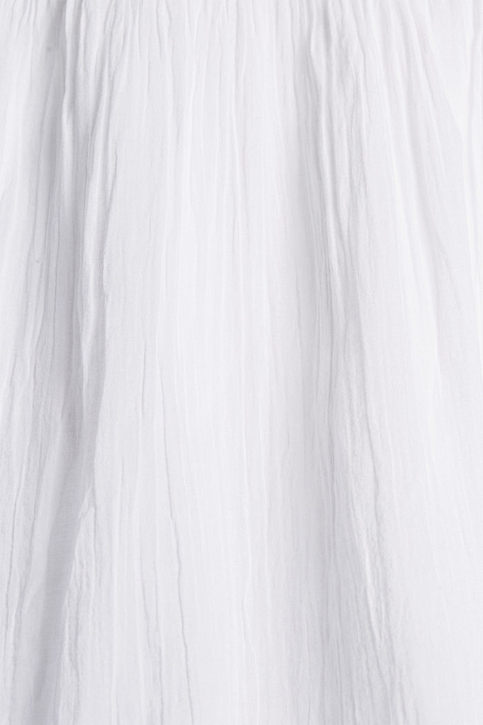 Voile-Kleid aus Bio-Baumwolle mit Spitze, WHITE, detail image number 4
