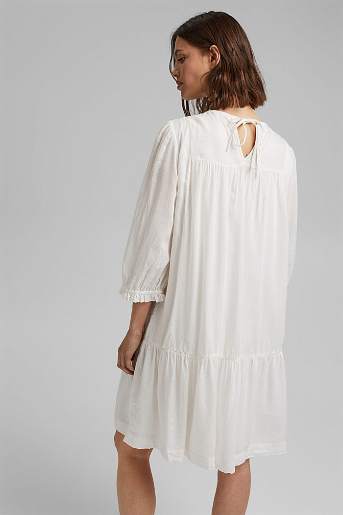 Dress with broderie anglaise, OFF WHITE, detail image number 2