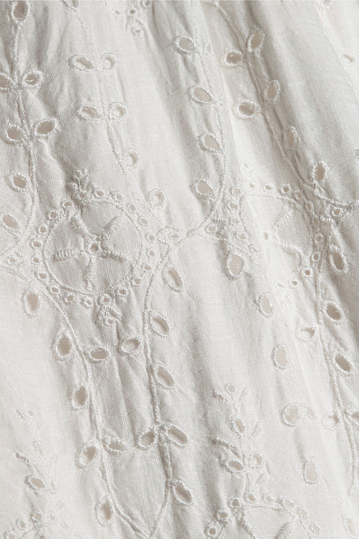 Dress with broderie anglaise, OFF WHITE, detail image number 4