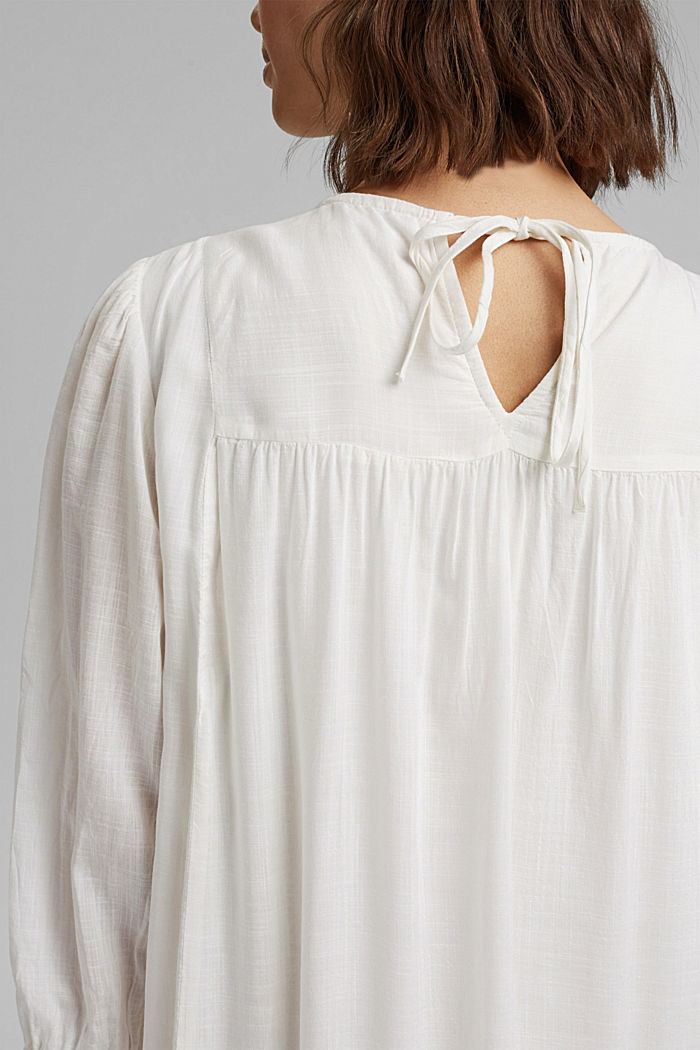 Dress with broderie anglaise, OFF WHITE, detail image number 6
