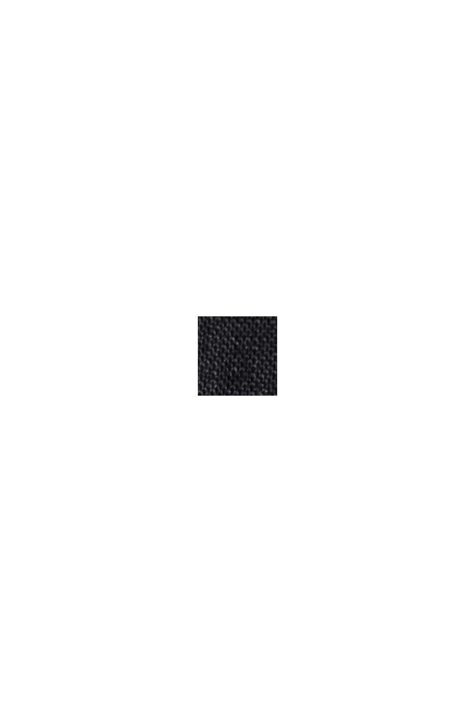 Aus Leinen: Kleid mit Knopf-Details, BLACK, swatch