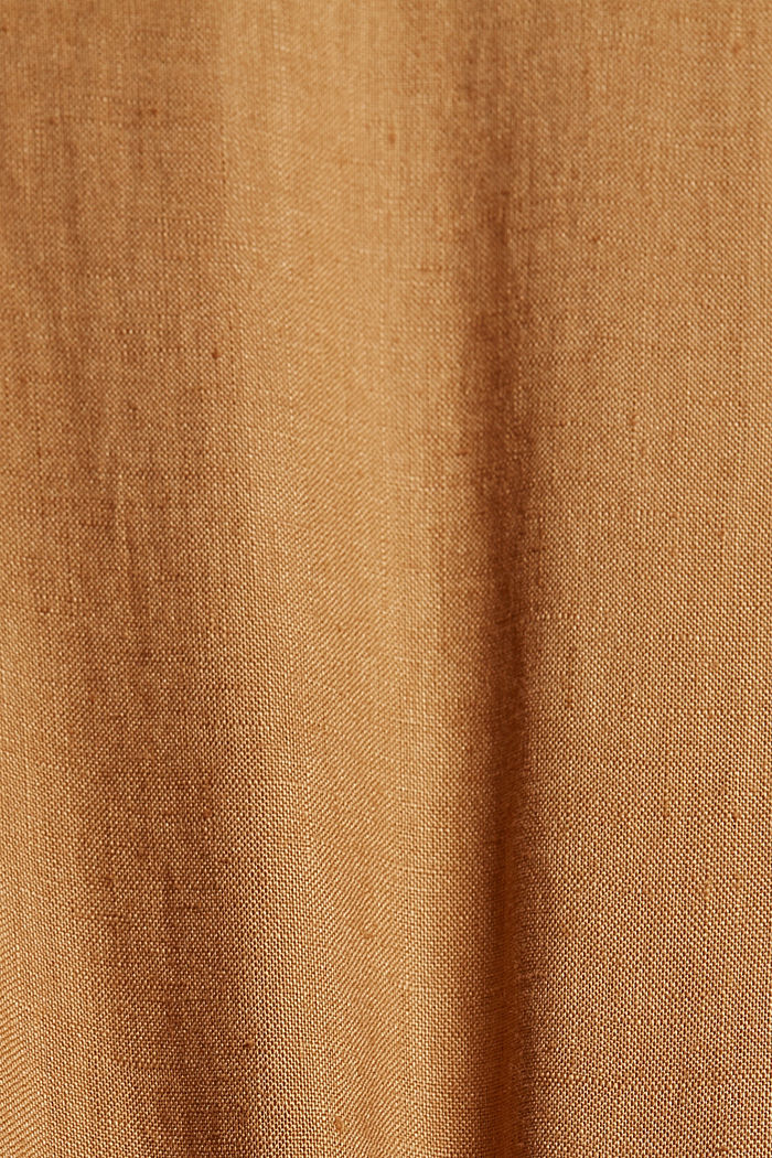 Made of linen: dress with button details, CAMEL, detail image number 4