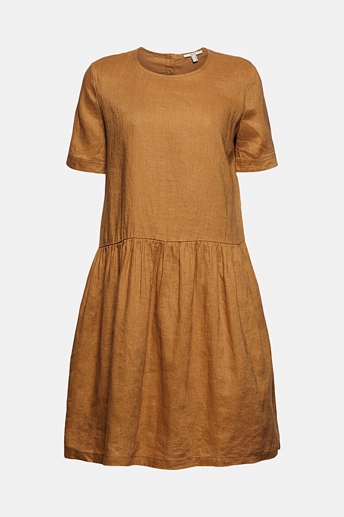 Made of linen: dress with button details