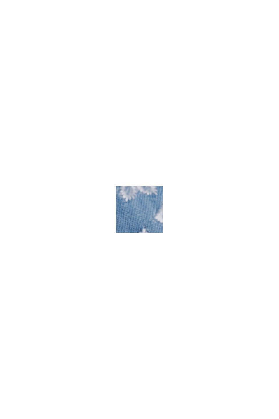 Besticktes Kleid im Denim-Look. 100% Baumwolle, BLUE MEDIUM WASHED, swatch