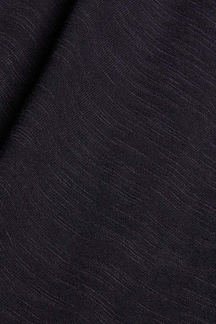Jersey dress with broderie anglaise, organic cotton, BLACK, detail image number 4