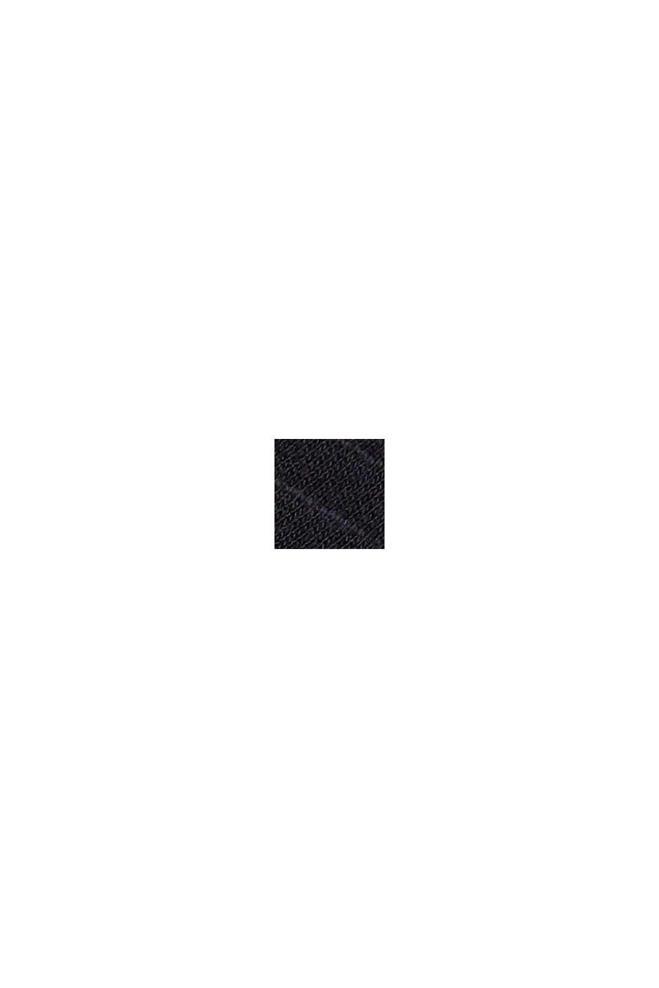 Jerseyklänning med hålspets, ekobomull, BLACK, swatch