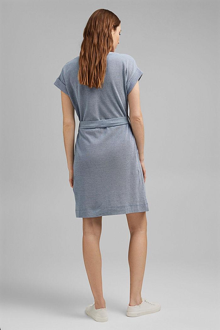 Žerzejové šaty páskem, 100% bio bavlna, BRIGHT BLUE, detail image number 2