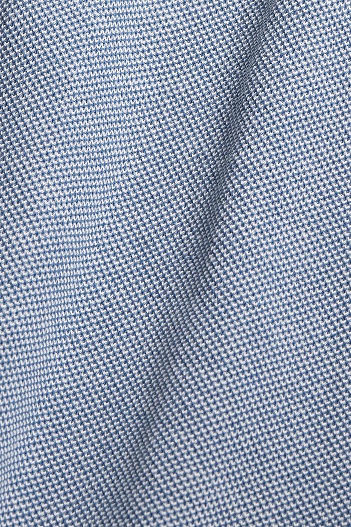 Žerzejové šaty páskem, 100% bio bavlna, BRIGHT BLUE, detail image number 4