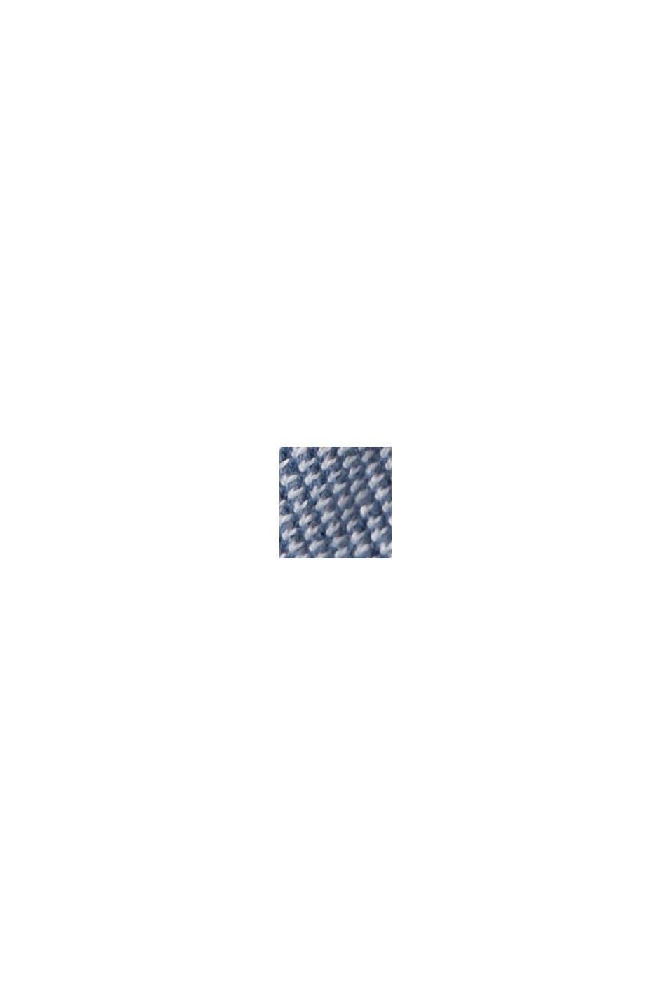 Jerseykjole med bælte, 100% økobomuld, BRIGHT BLUE, swatch