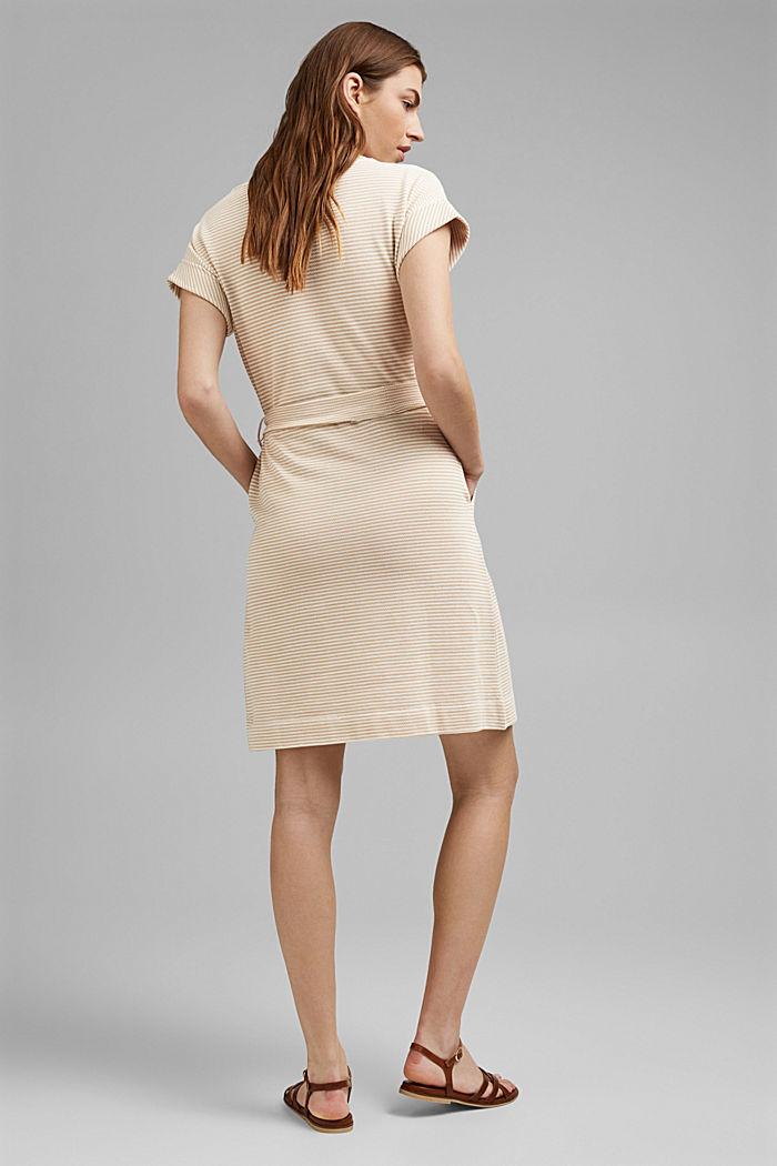 Strukturiertes Jerseykleid, Organic Cotton, SAND, detail image number 2