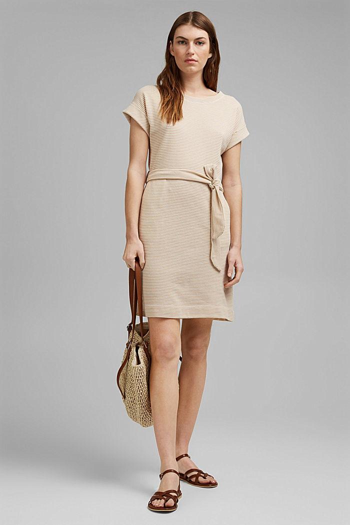 Strukturiertes Jerseykleid, Organic Cotton, SAND, detail image number 1