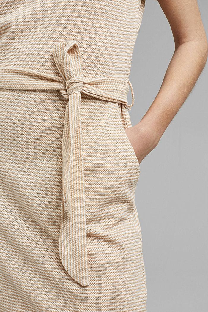 Strukturiertes Jerseykleid, Organic Cotton, SAND, detail image number 3