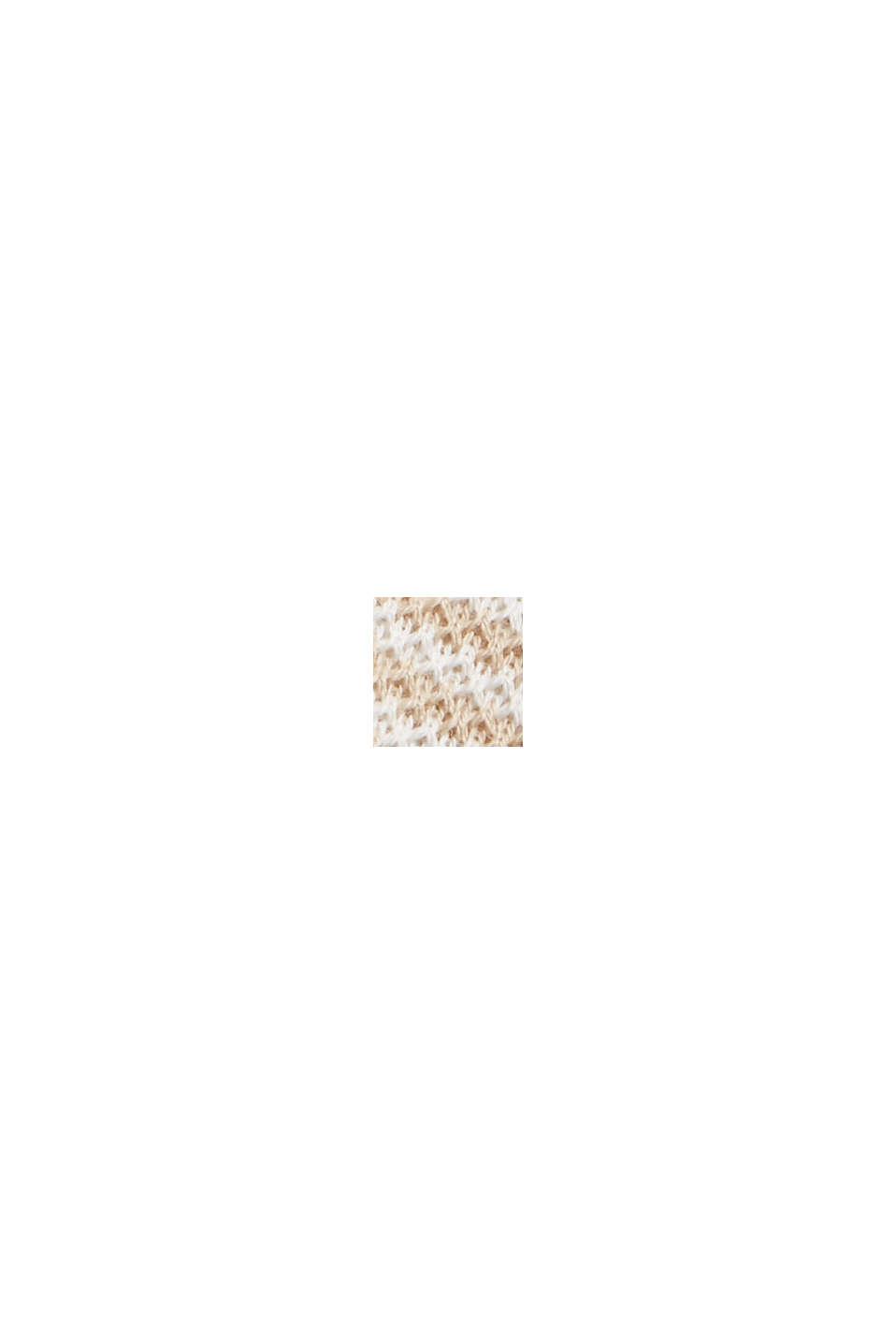 Jerseykjole med struktur, økologisk bomuld, SAND, swatch