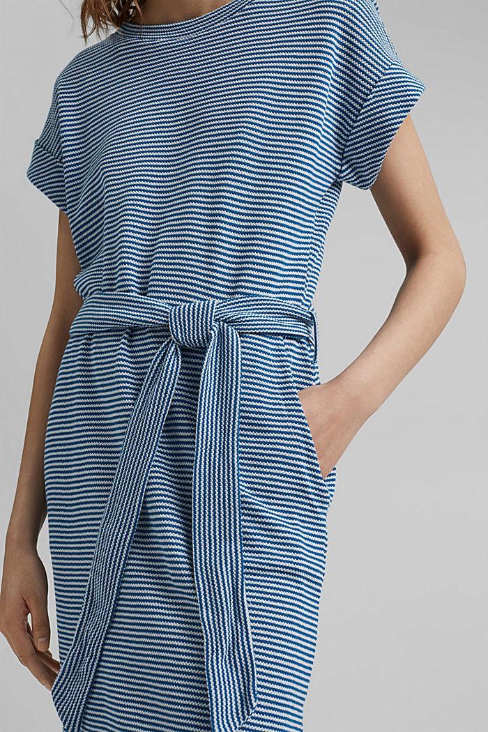 Strukturiertes Jerseykleid, Organic Cotton, BRIGHT BLUE, detail image number 3