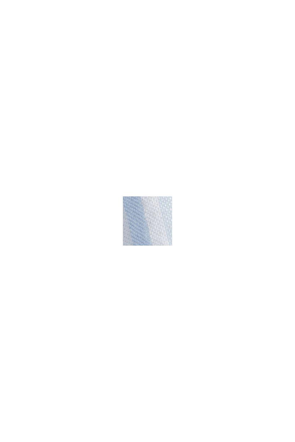 Aus Leinen-Mix: gestreiftes Kleid in A-Linie, LIGHT BLUE, swatch