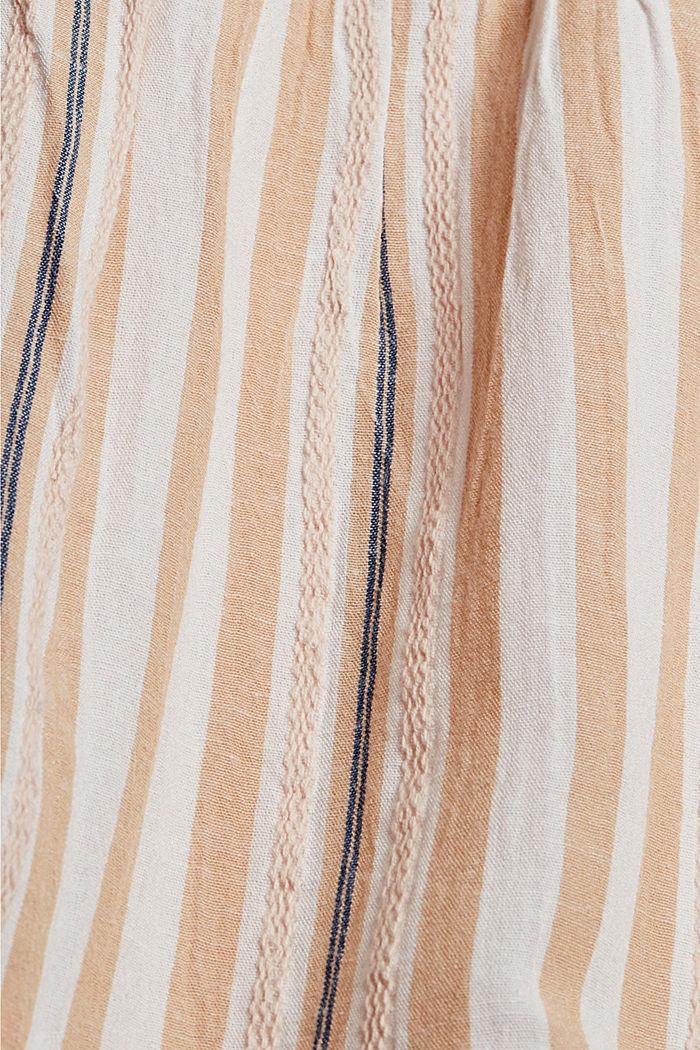 Gestreiftes Maxikleid mit Volants, WHITE, detail image number 4