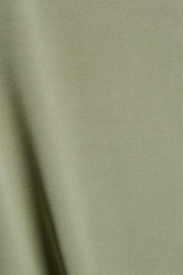 Vestido fluido de jersey con cinturón, LIGHT KHAKI, detail image number 4