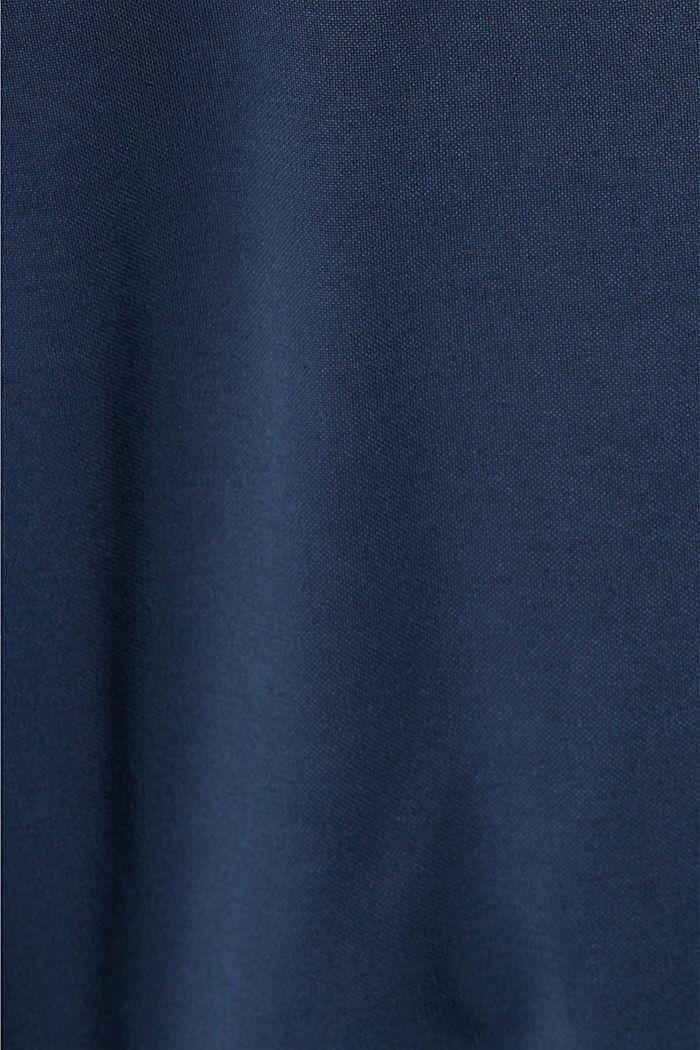 Fließendes Jerseykleid mit Bindegürtel, NAVY, detail image number 4