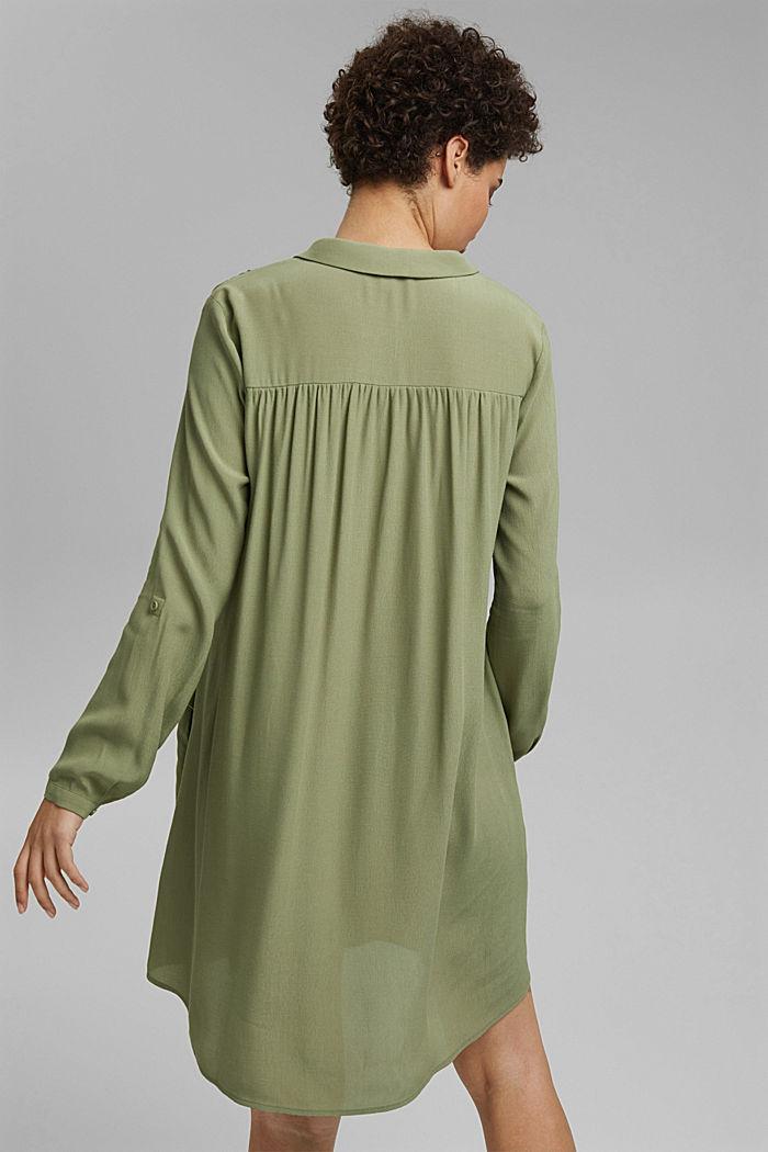 Wide, figure-slimming shirt dress, LIGHT KHAKI, detail image number 2