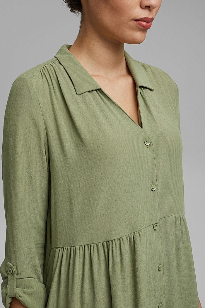 Wide, figure-slimming shirt dress, LIGHT KHAKI, detail image number 3