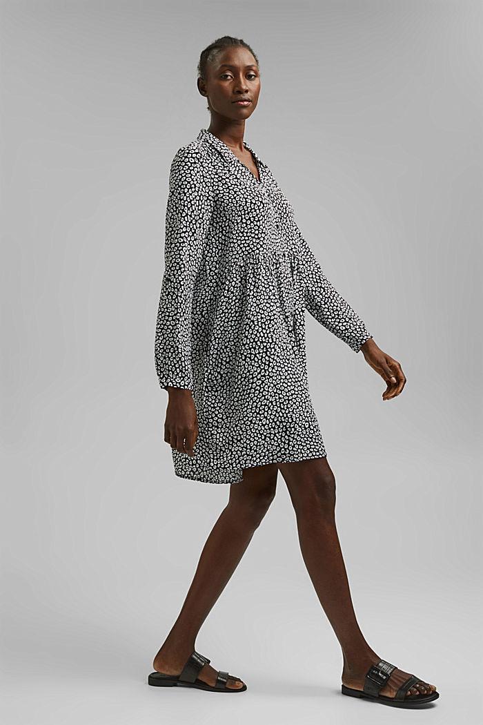 Hängerchen-Kleid mit Print, BLACK, detail image number 1
