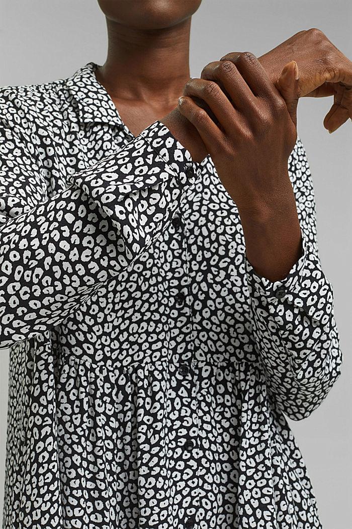 Hängerchen-Kleid mit Print, BLACK, detail image number 3