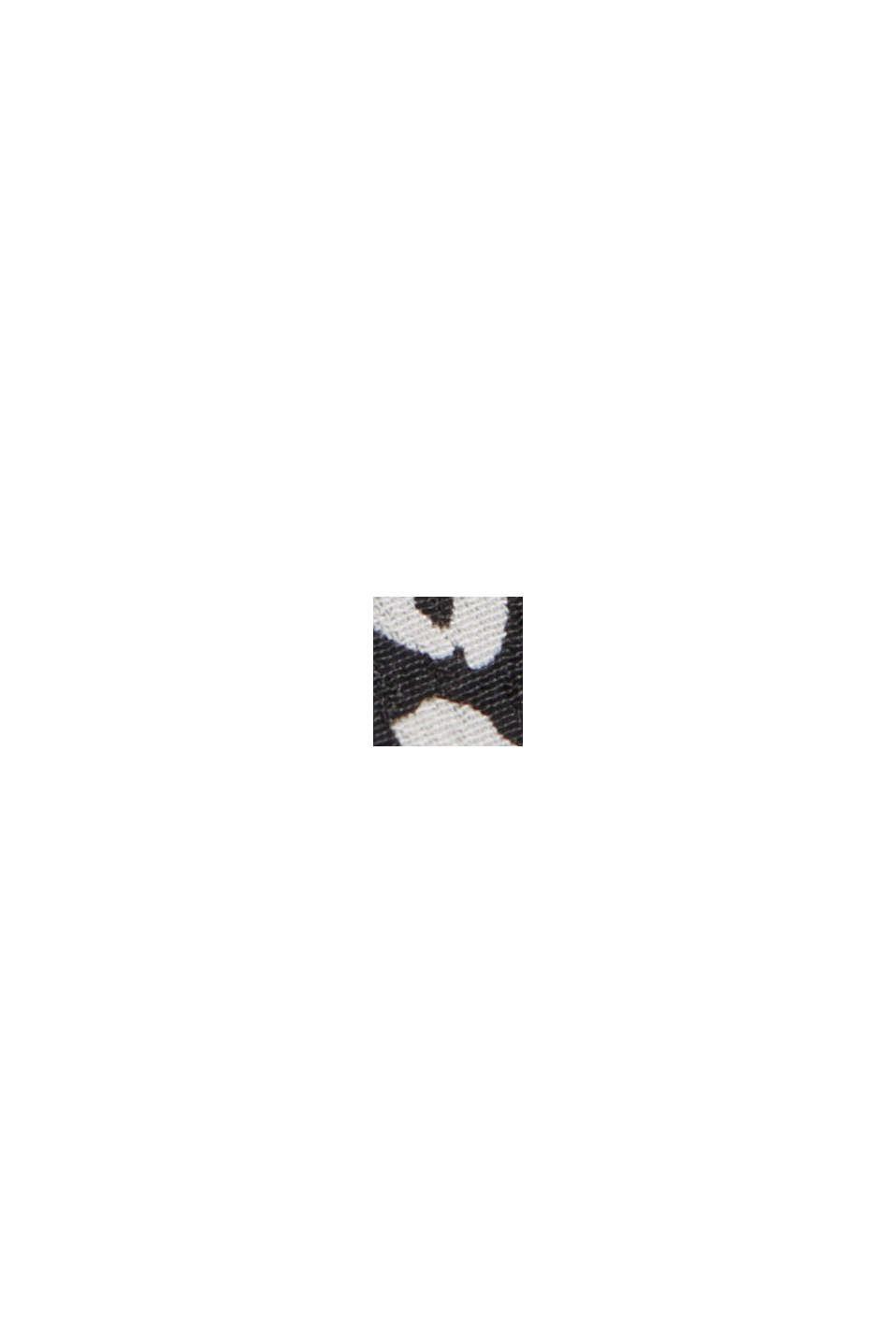 Hängerchen-Kleid mit Print, BLACK, swatch