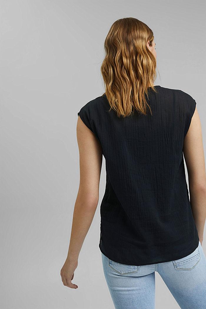 Halenkový top z krajky, z bio bavlny, BLACK, detail image number 3