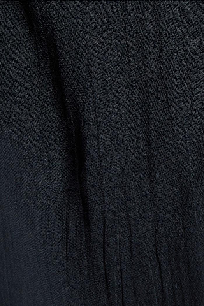 Halenkový top z krajky, z bio bavlny, BLACK, detail image number 4