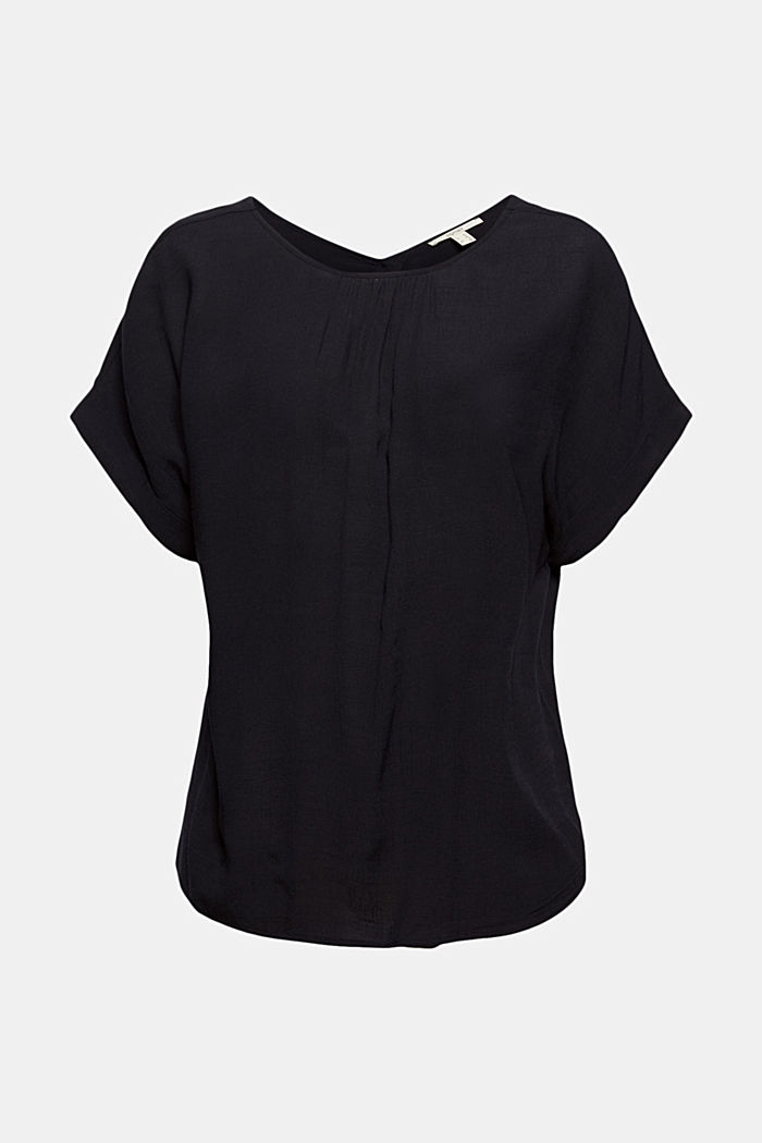 Blouse top with button placket, LENZING™ ECOVERO™