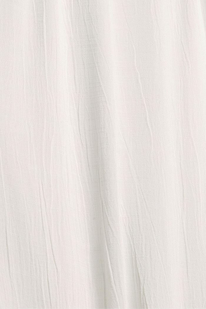 Blusentop mit Knopfleiste, LENZING™ ECOVERO™, OFF WHITE, detail image number 4
