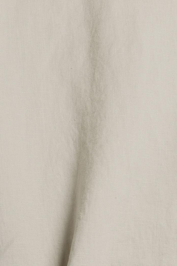 Van linnen: Blouse met knoopdetails, LIGHT BEIGE, detail image number 4