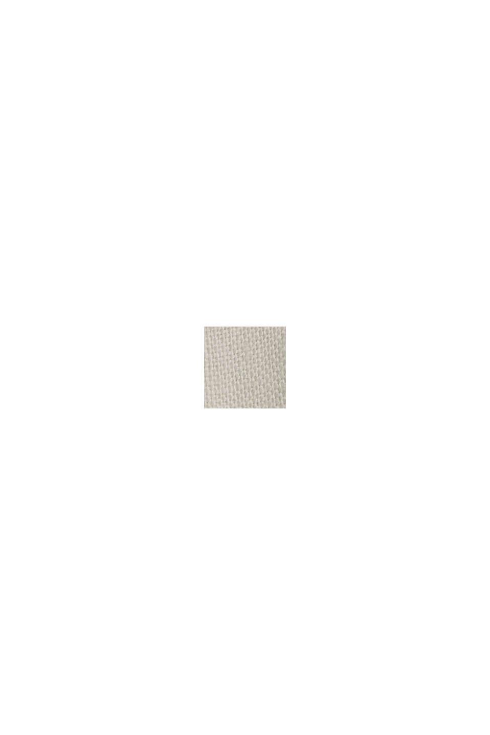 Made of linen: Button detail blouse, LIGHT BEIGE, swatch