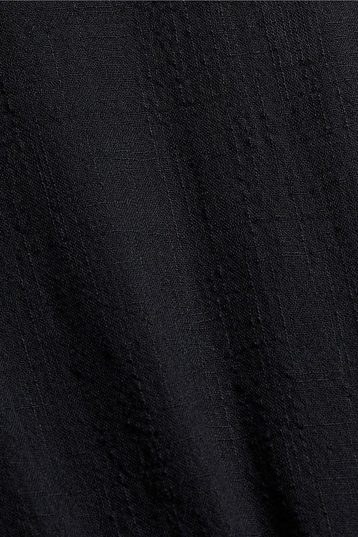 Strukturierte Bluse mit Organic Cotton, BLACK, detail image number 4