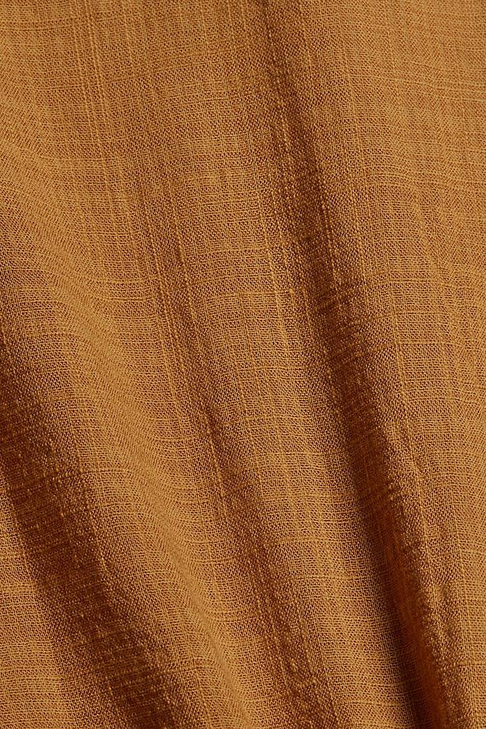 Strukturovaná halenka s bio bavlnou, CAMEL, detail image number 4