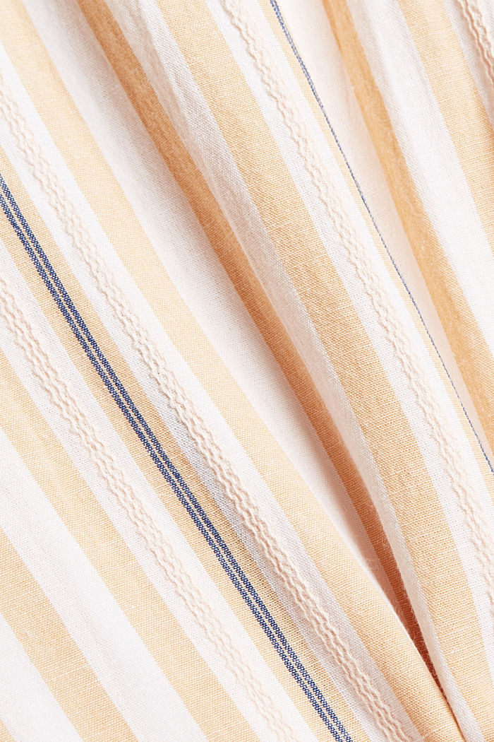 Short sleeve blouse with vertical stripes, WHITE, detail image number 4
