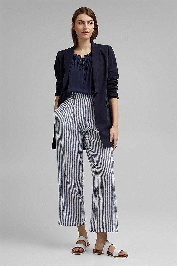 Zarte Crinkle-Bluse aus LENZING™ ECOVERO™, NAVY, detail image number 5