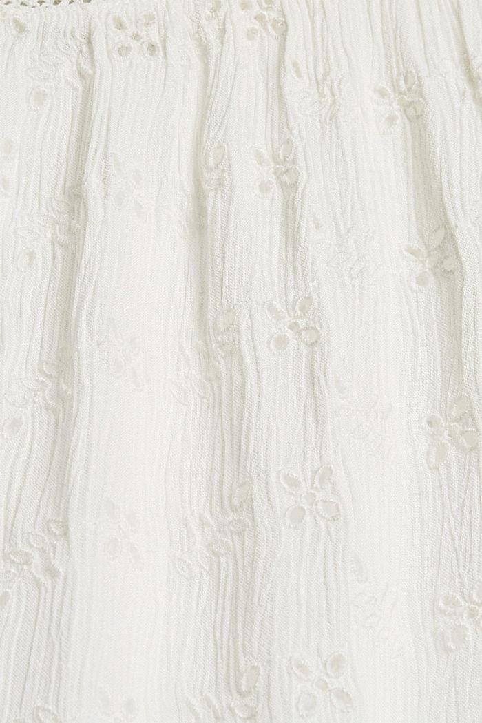 Blusentop mit Lochstickerei, OFF WHITE, detail image number 4