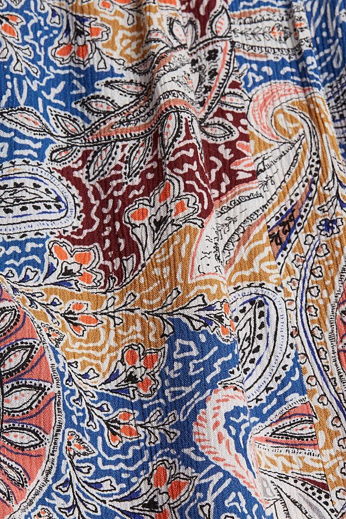 Fließendes Blusentop mit Paisley-Print, LIGHT BEIGE, detail image number 4