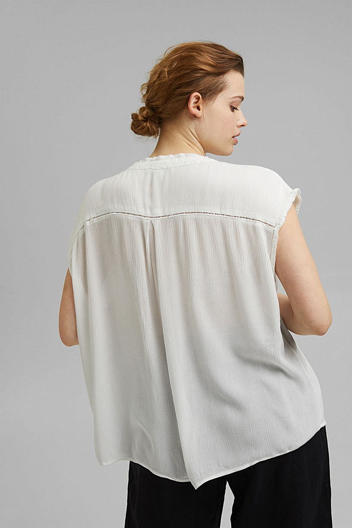 CURVY Crinkle-Bluse aus LENZING™ ECOVERO™, OFF WHITE, detail image number 3